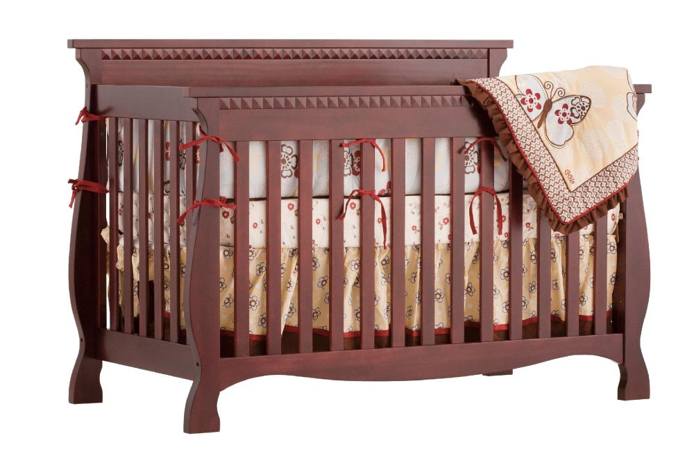 Stork Craft Venetian 4 in 1 Fixed Side Convertible Crib - Cherry