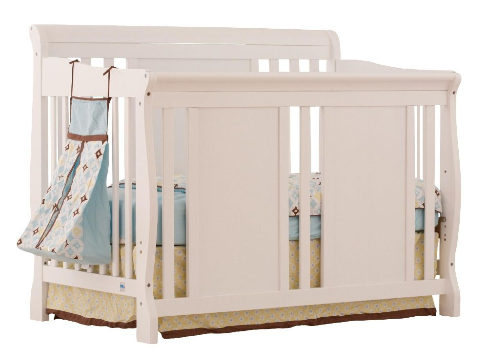 Stork Craft Verona 4 in 1 Fixed Side Convertible Crib - White