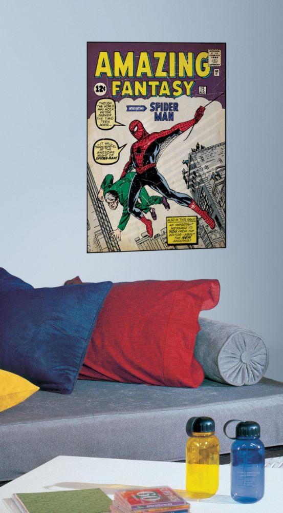 RoomMates Comic Book Cover - Spiderman #1 Peel & Stick Comic Book Cover