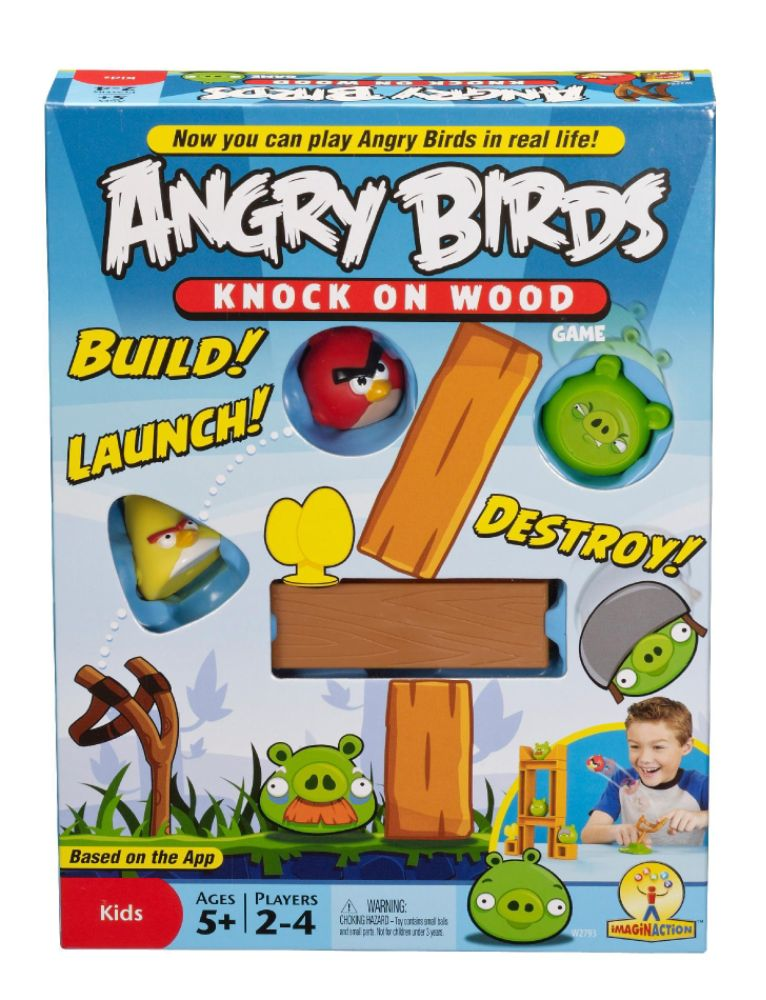 Knock on Wood Game: Play Angry Birds for Real!