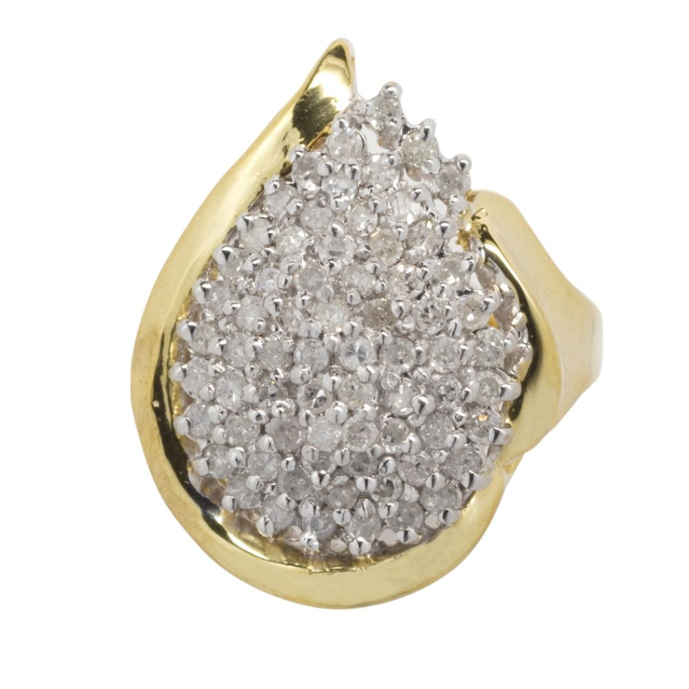 1cttw Diamond Ring in 18k Gold over Sterling Silver