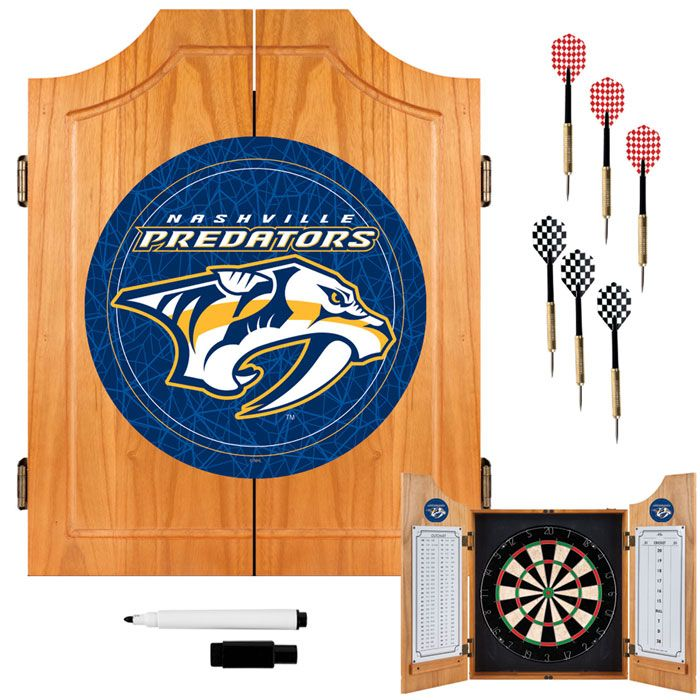 Trademark NHL Nashville Predators Dart Cabinet including Darts and Board
