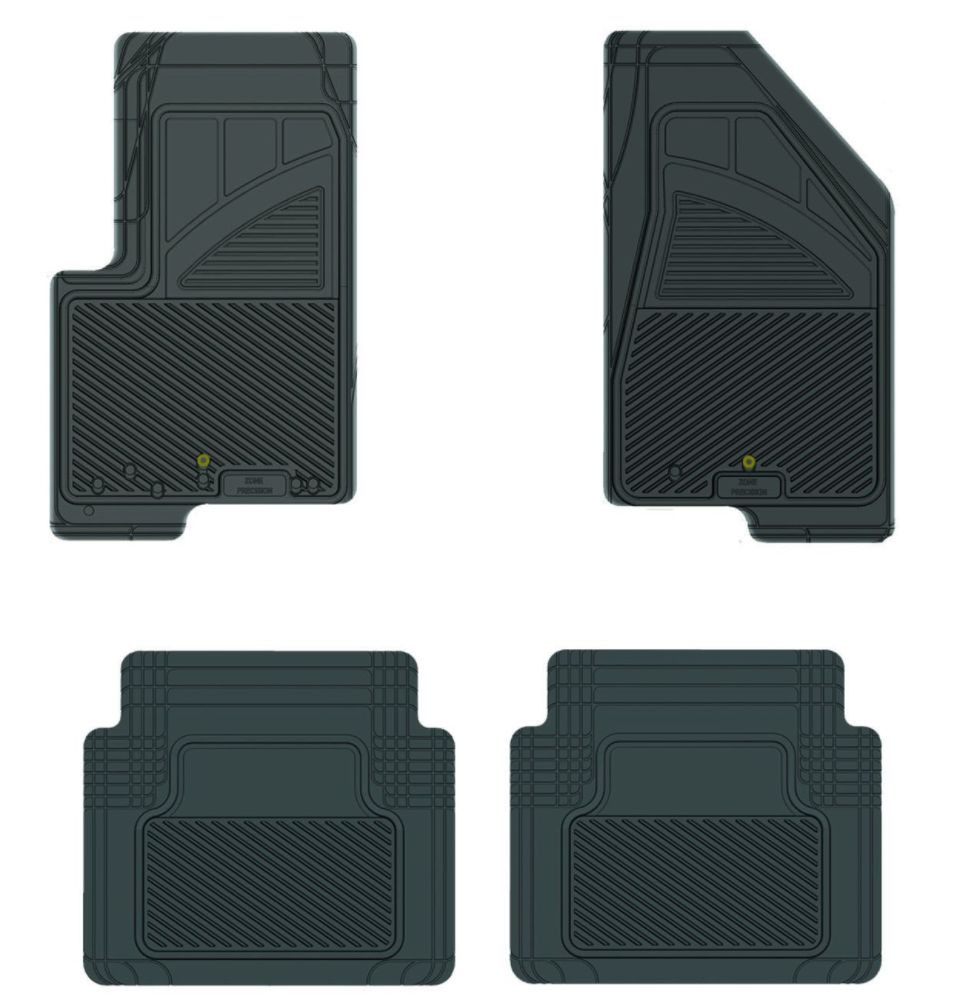 Koolatron 17001 Black Precision All Weather Kustom Fit Car Mat for 2007+