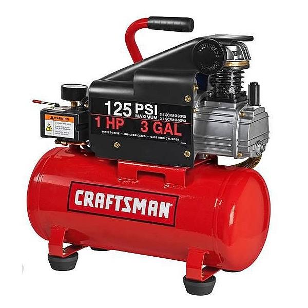 Compresor de aire horizontal de 3 galones craftsman - Manguera para compresor de aire ...
