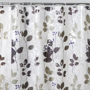Essential Home Shower Curtain Geneva Lace Vinyl - Bed & Bath ...