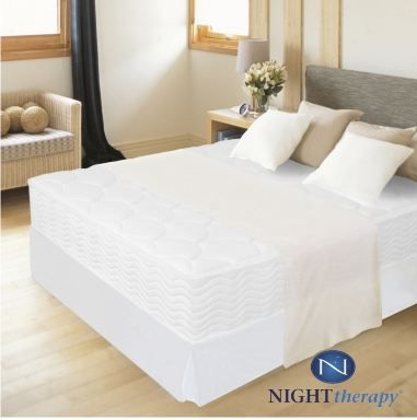 Night Therapy 12 Inch Spring Mattress Complete Set King Off white