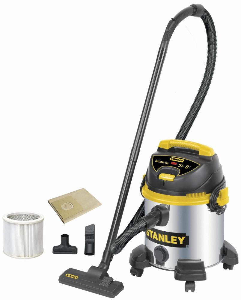 8 Gallon 4.5 Peak HP Stainless Steel Wet/Dry Vacuum