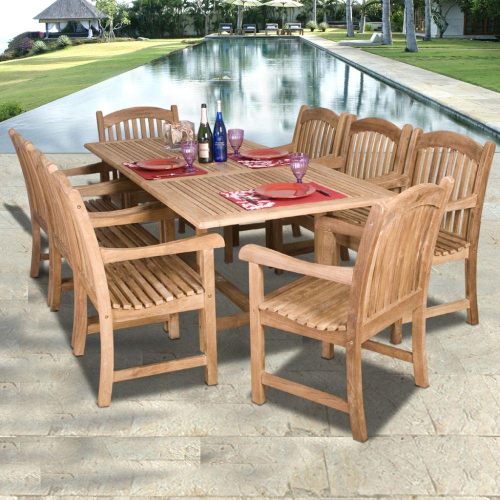 Furniture Dining Room Furniture Dining Table Set Teak Rectangu