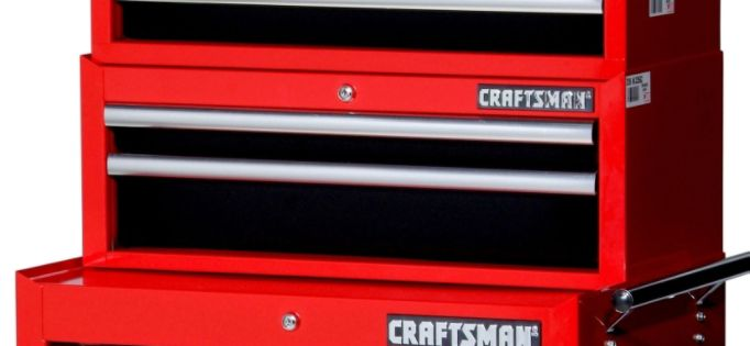 Craftsman  27'' 2-Drawer Ball Bearing Slides Intermediate Chest Red&Black