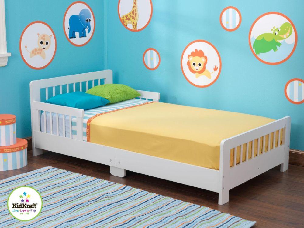 Slatted Toddler Bed-White