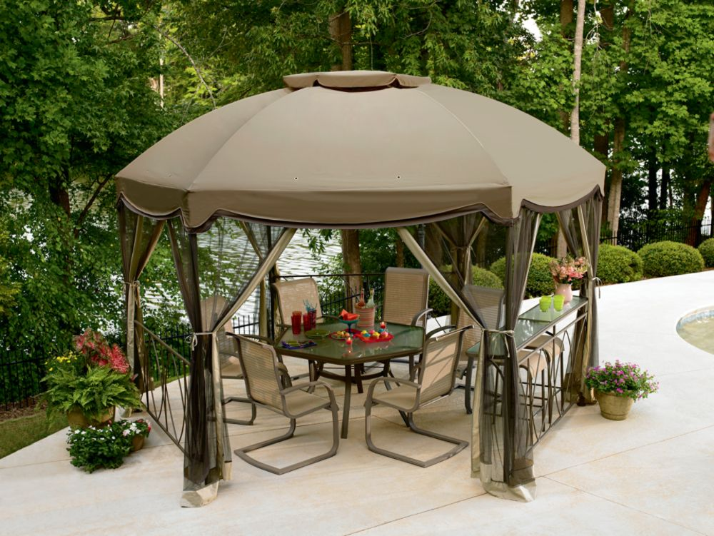 garden building garden oasis replacement canopy for steel round gazebo. Black Bedroom Furniture Sets. Home Design Ideas