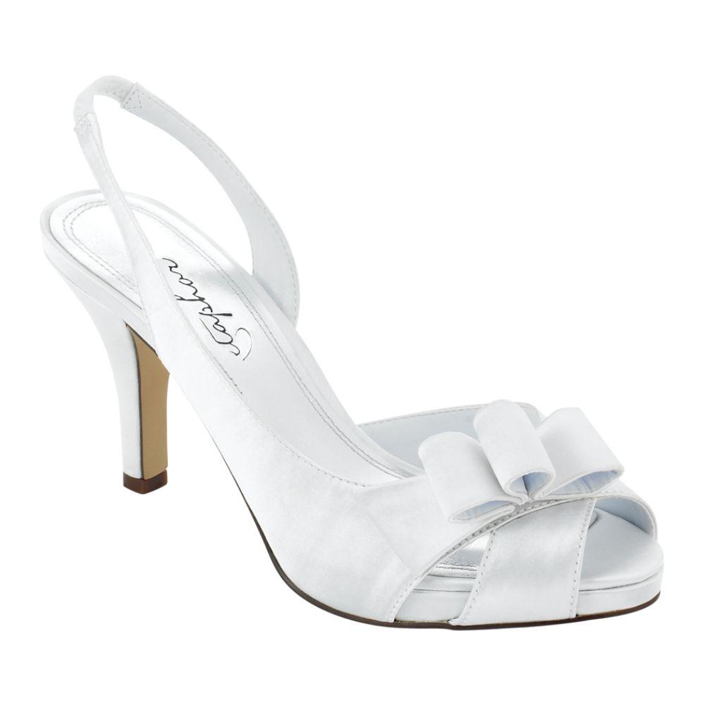 Popular White Wedding Shoes Women Dress Shoes Women High Heels Pump Boat Shoes