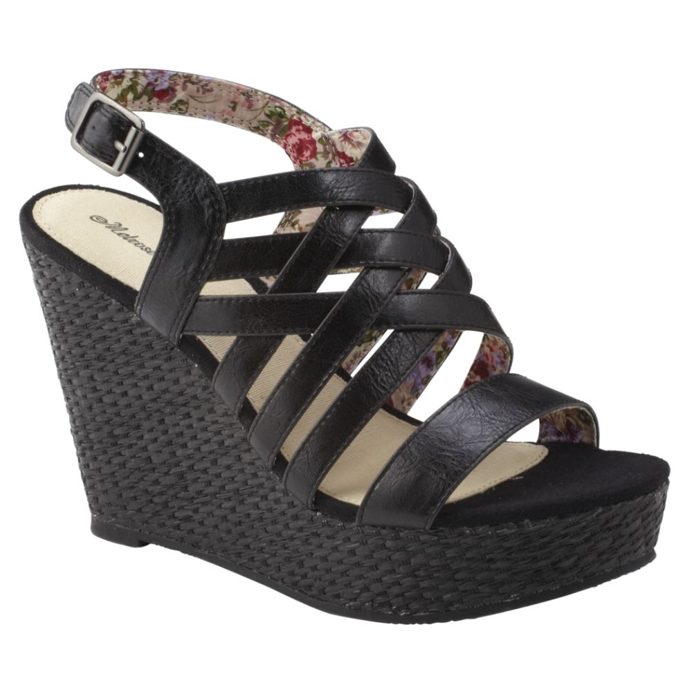 0876b426f7a Melrose Avenue Women s Hermosa Strappy Wedge Sandal - Black