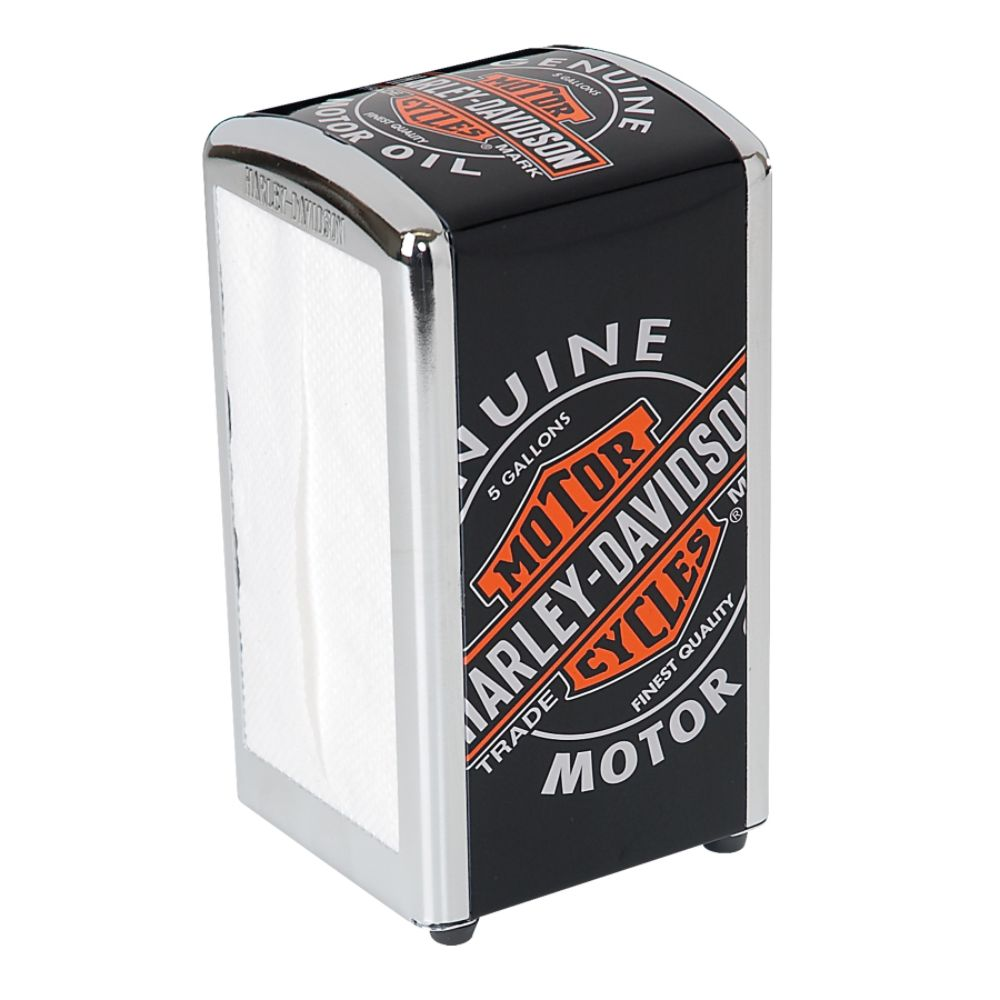 H-D Oil Can Napkin Dispenser