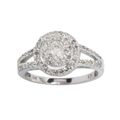 1/2cttw Diamond Ring in 10k White Gold