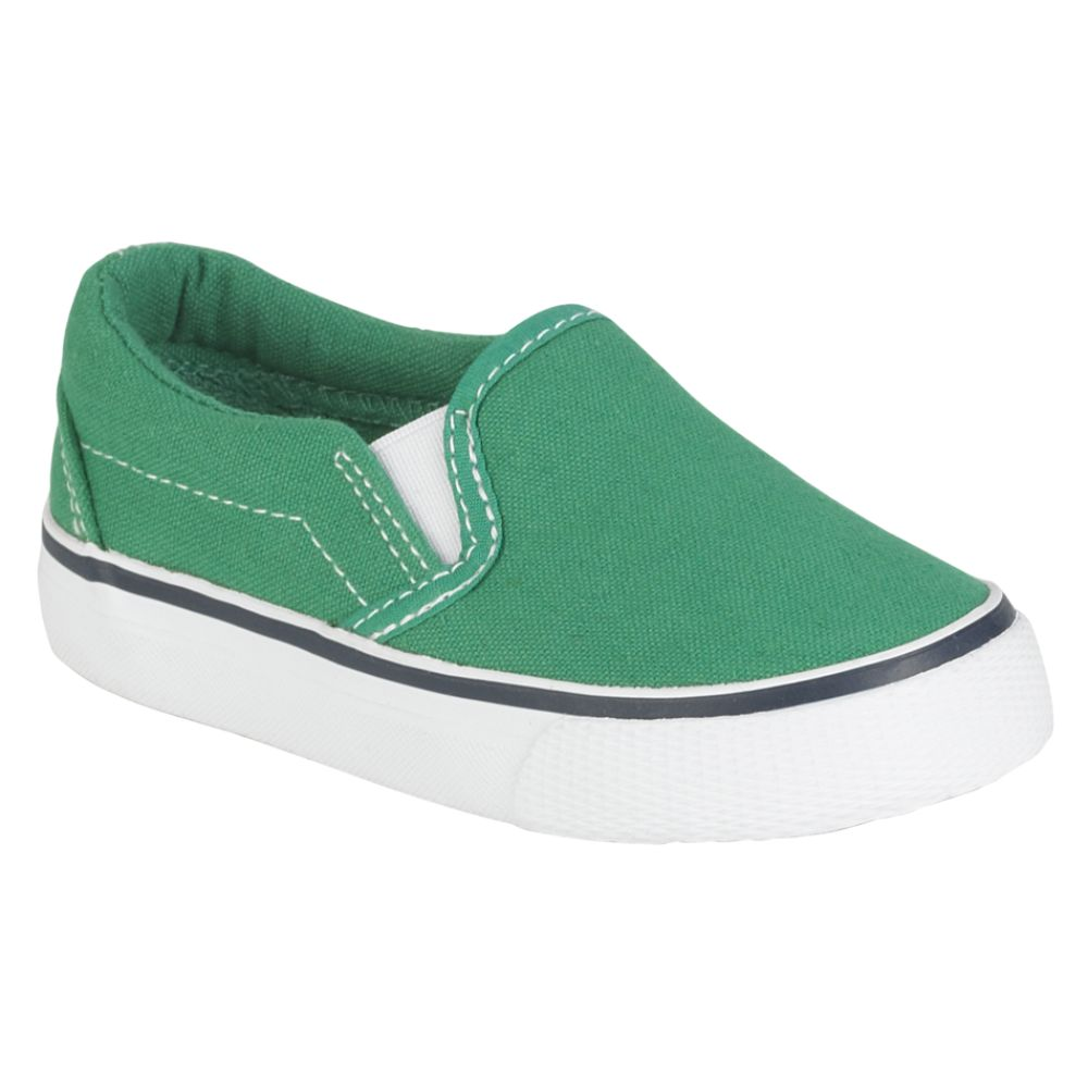Joe Boxer Toddler Unisex Replay Twin Gore Canvas Slip On - Green