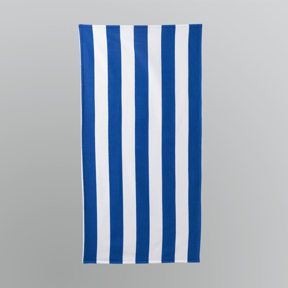 Essential Summer Cabana Stripe Beach Towel - Blue