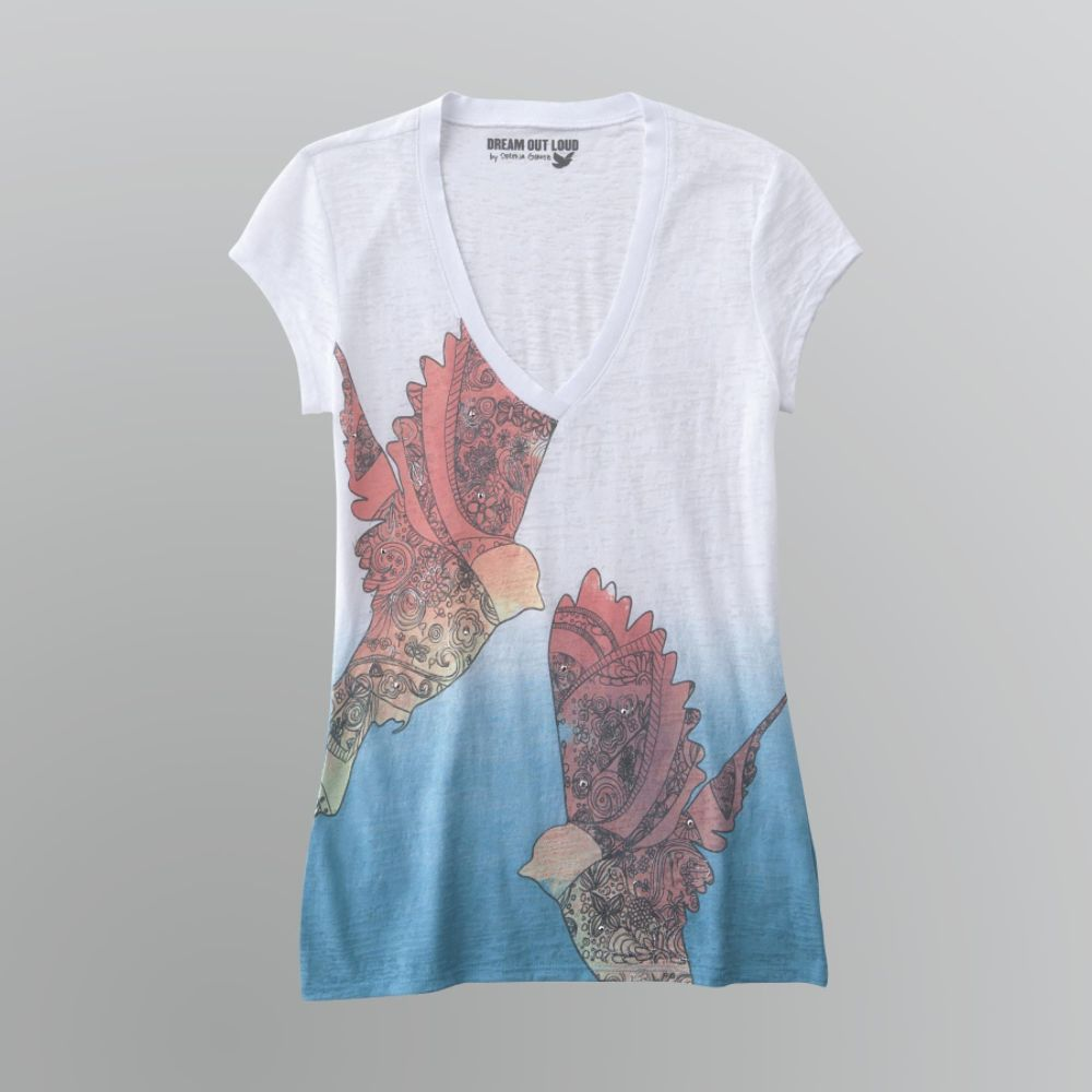 Dream Out Loud by Selena Gomez Junior's Dip Dye T-Shirt - Dove $ 9.00