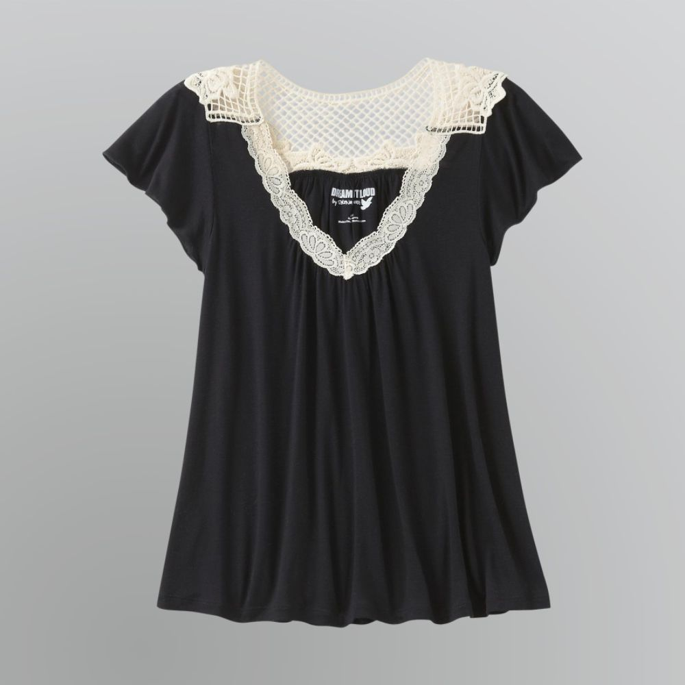 Dream Out Loud by Selena Gomez Junior's Lace Trim Tee $ 9.00