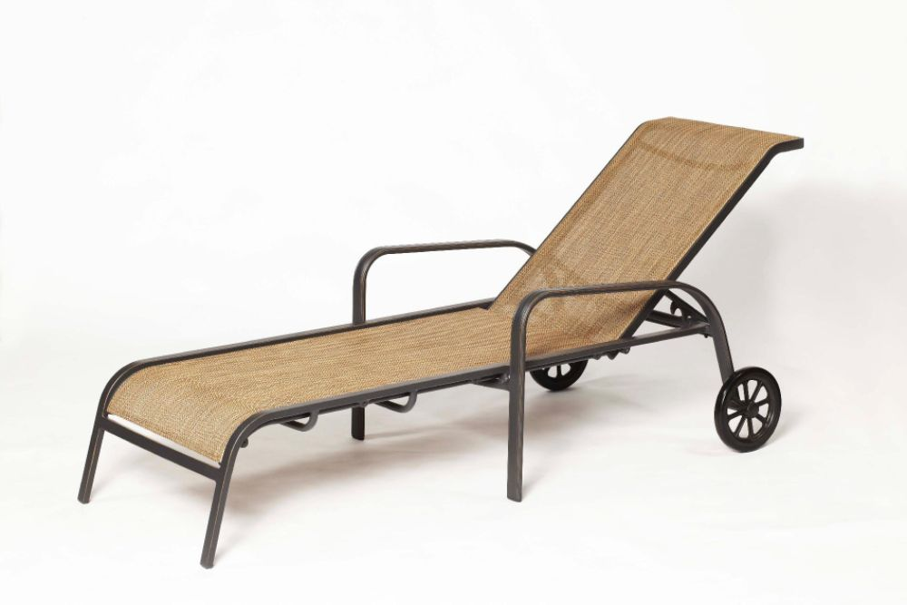 Furniture outdoor furniture chaise wheeled patio for Agio international chaise lounge