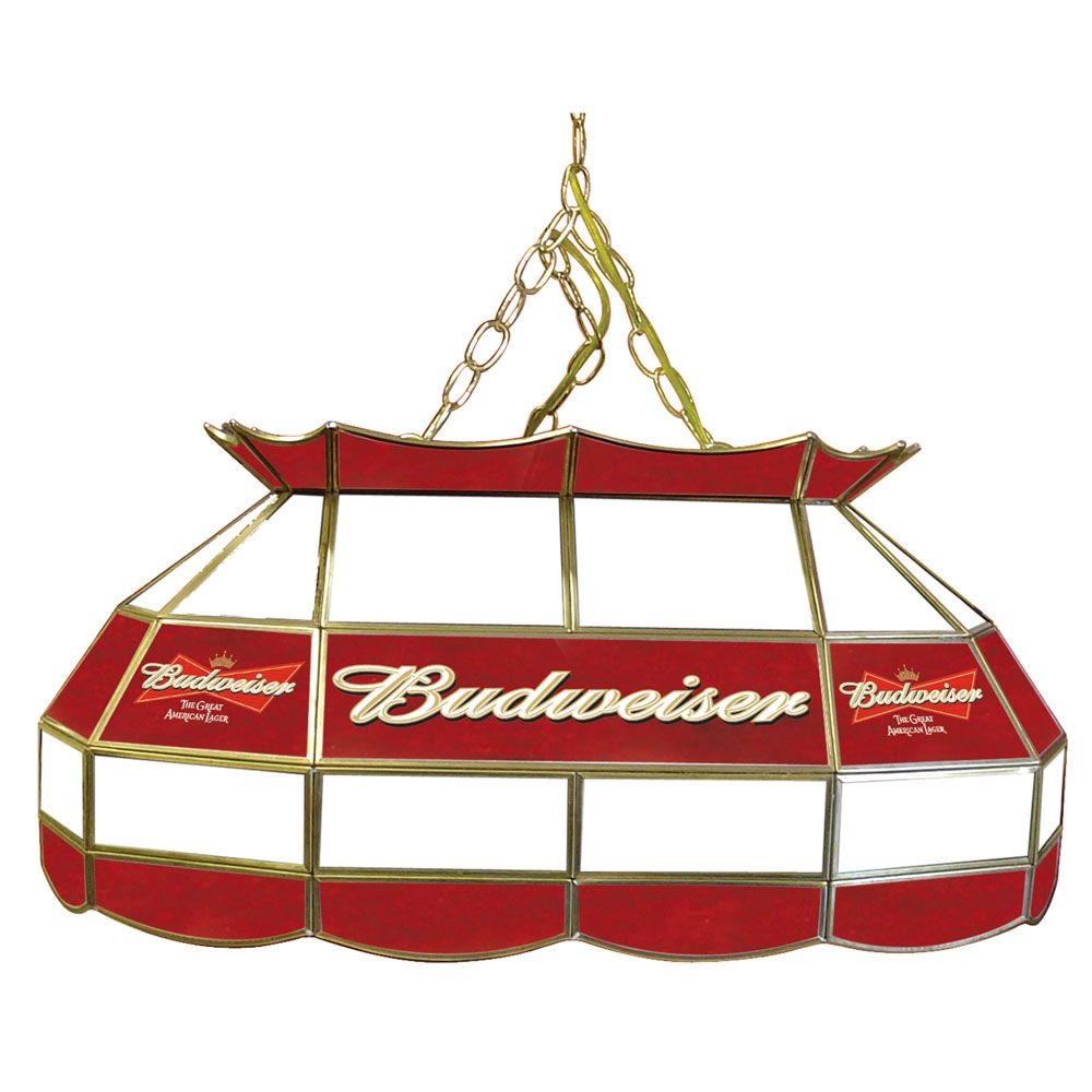 Budweiser Stained Glass Pool Table Light: Vintage Budweiser Pool Table Light