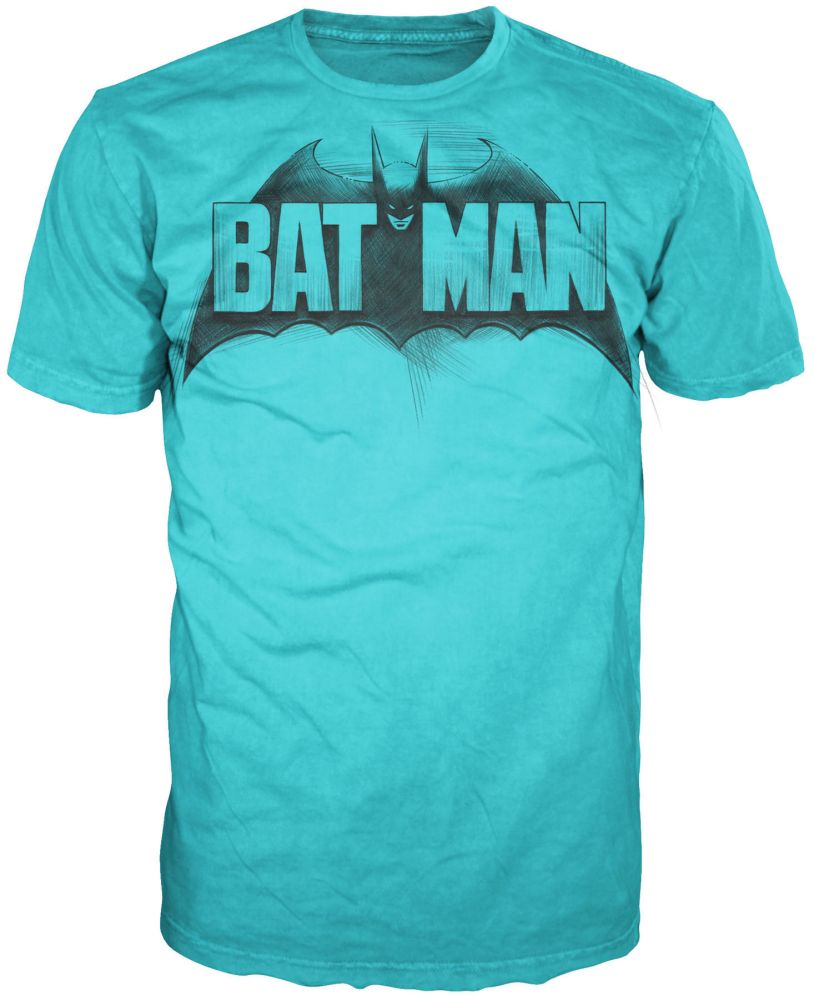 Warner Bros. Men's Short Sleeve Tee Shirt Batman Turquoise $ 4.99