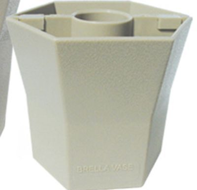 Blue Star BRELLA VASE - 5 Inch - Opaque - Desert Sand - Patio Umbrella Vase