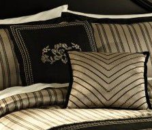 Country Living Noir Black embroidered Decorative Pillow $ 11.69