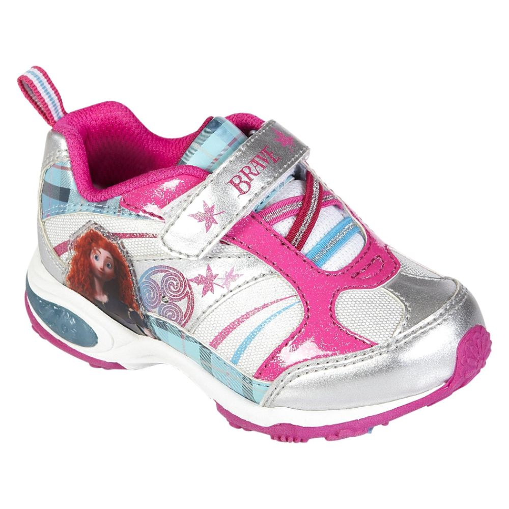 Disney Toddler Girl's Brave Princess Athletic Shoe - White