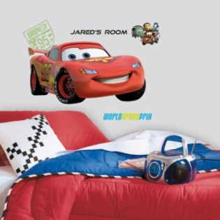 RoomMates  Cars 2 Lightening Peel & Stick Giant Wall Decal