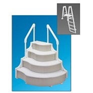 Ocean Blue Grand Entrance Step with Entry Ladder for Above Ground Swimming Pools at Sears.com