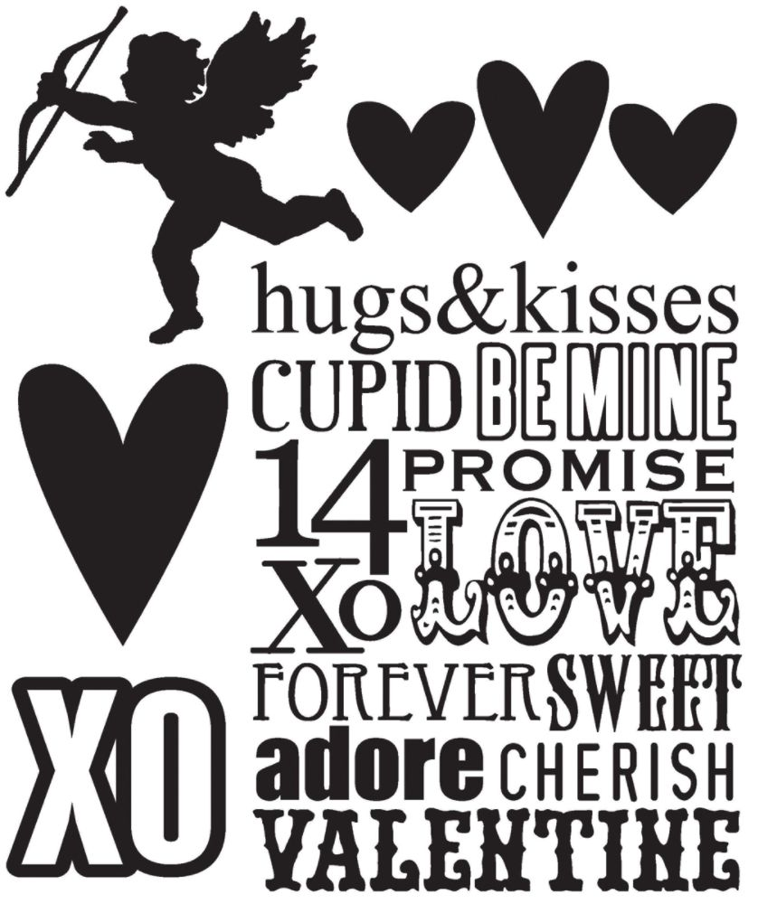 Stampers Anonymous Tim Holtz Cling Rubber Stamp                                     Set, Valentine Silhouettes