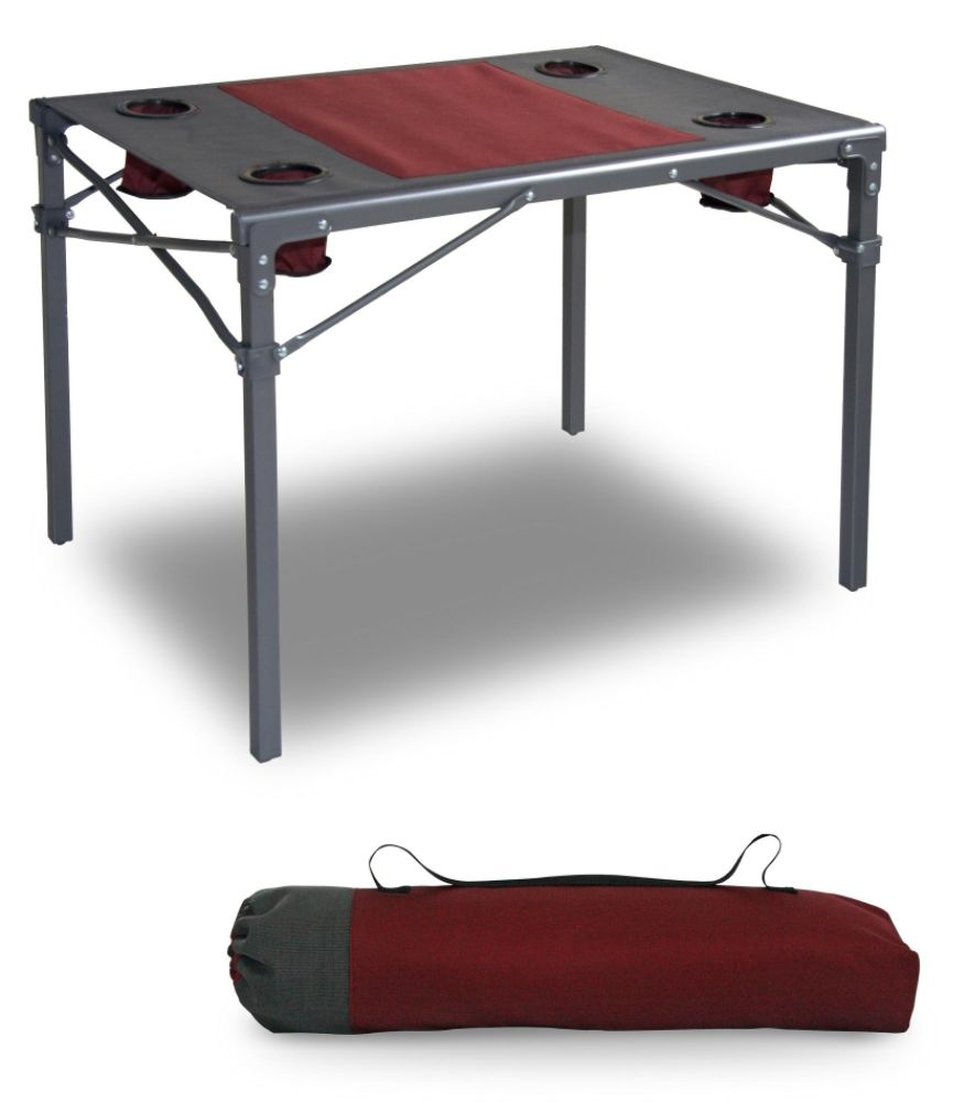 Northwest Territory Fold & Stow Portable Camping Table with Carry Bag