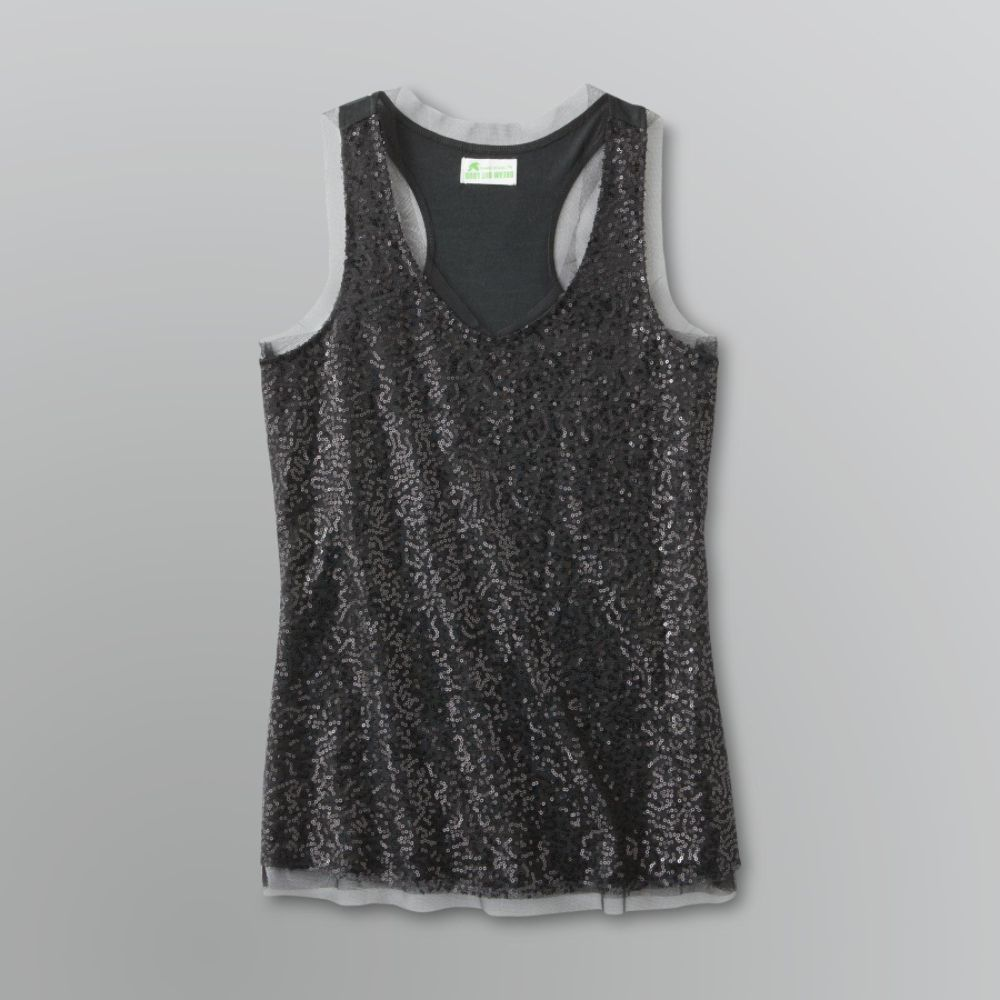 Dream Out Loud by Selena Gomez Junior's Sequin Mesh Tank Top $ 10.50