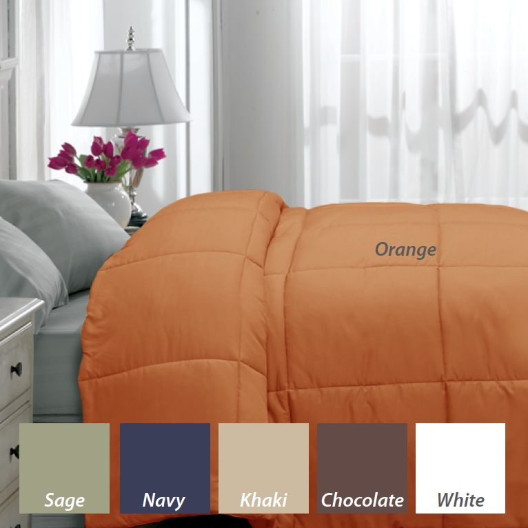 Microfiber Colored Down Alternative Comforter