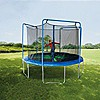 Sportspower 12ft Trampoline with 3-Arch Enclosure and Flash Light Zone