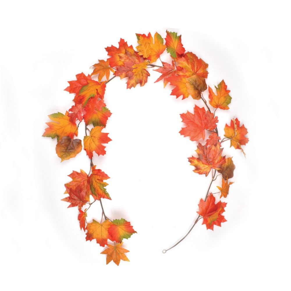 Be Thankful 6ft Harvest Leaf Garland - Mixed