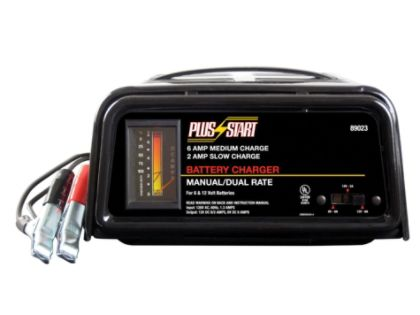 Plus Start  Battery Charger, Manual 6/2 Amp