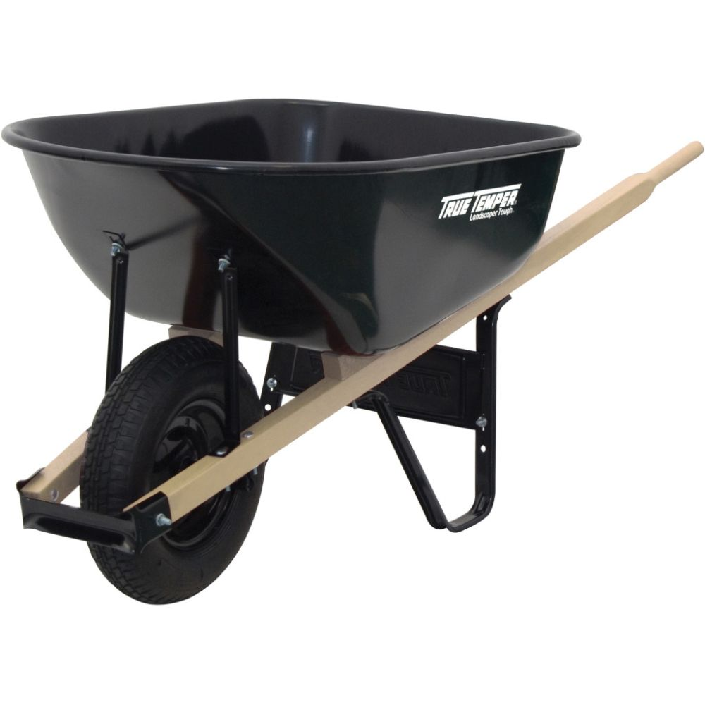 Ames 6 cubic-foot Steel Wheelbarrow