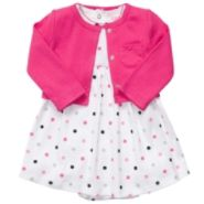 Carters Girl's Infant Dress/Cardigan 2pc Set Dotted Pink at Sears.com