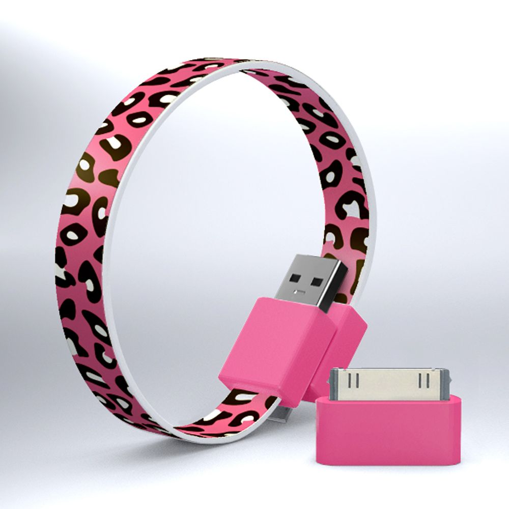 MOHZY Loop micro USB and iPhone/iPod cable certified for Made for iPod and iPhone - Cherry Leopard Other