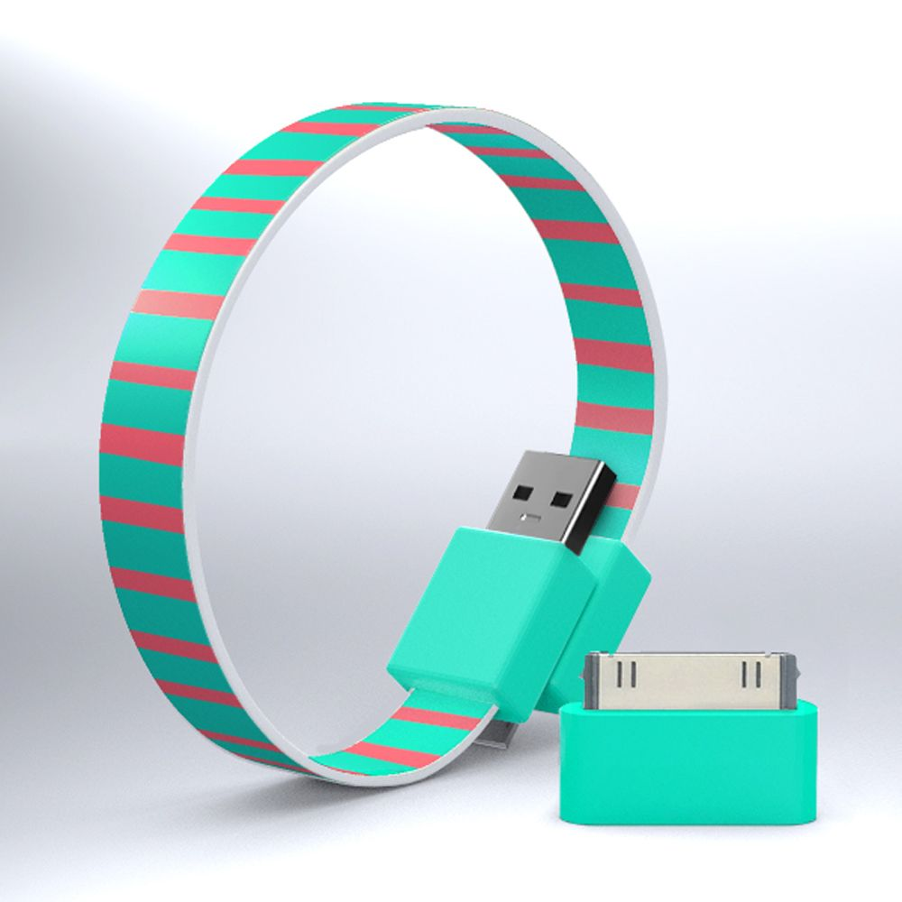 MOHZY Loop micro USB and iPhone/iPod cable certified for Made for iPod and iPhone - Candy Stripes Other