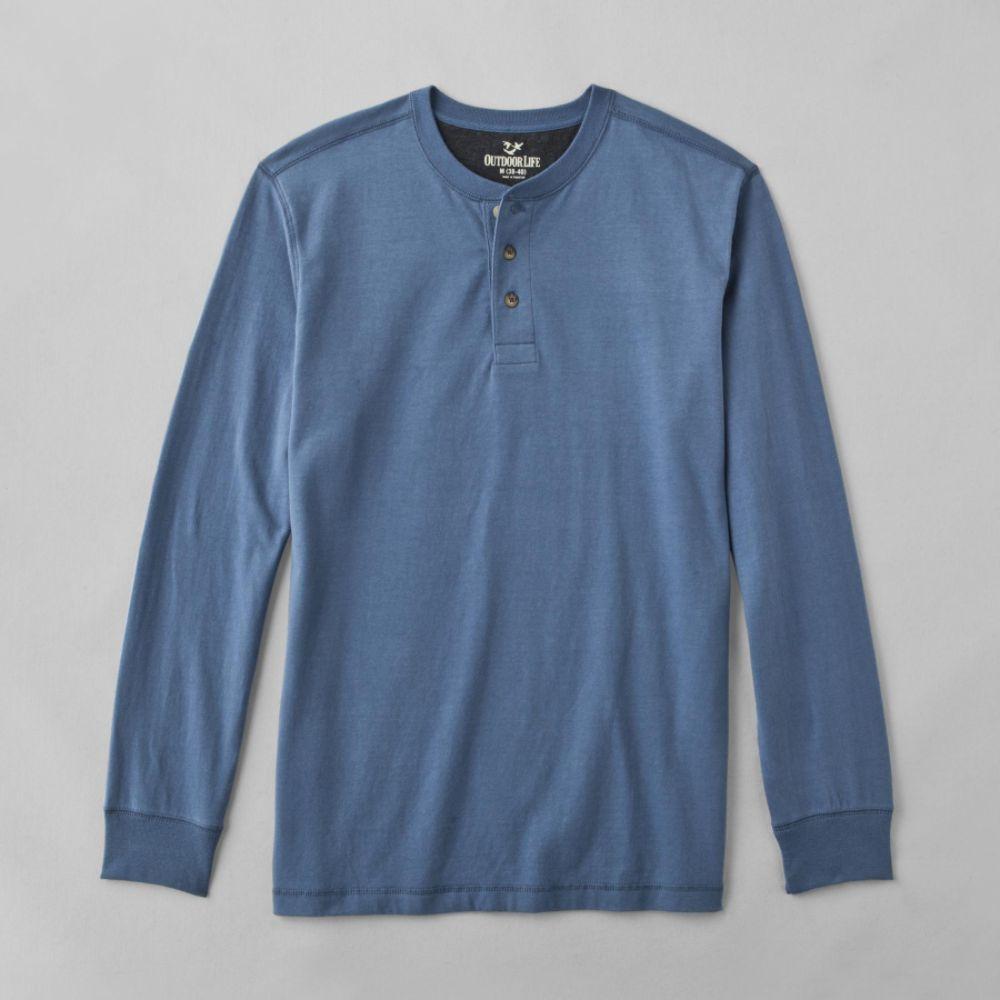 Outdoor life men 39 s long sleeve sueded henley shirt china for Mens outdoor long sleeve shirts