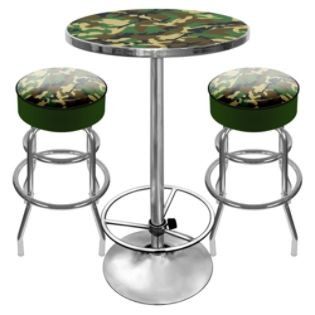 Trademark Global  Hunter Camouflage Man Cave Combo With 2 Bar Stools
