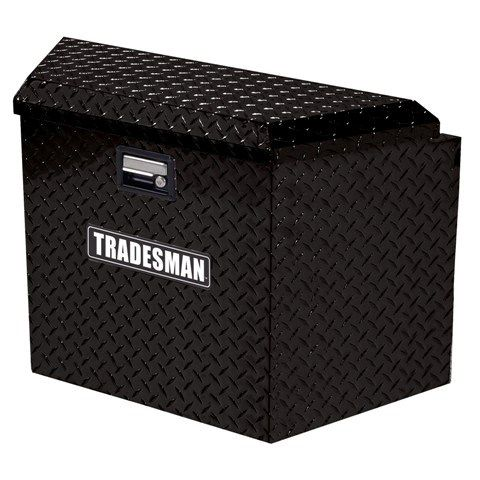 TAL21TTBBK 21-Inch Aluminum Trailer Tongue Truck Box, Diamond Plated, Black