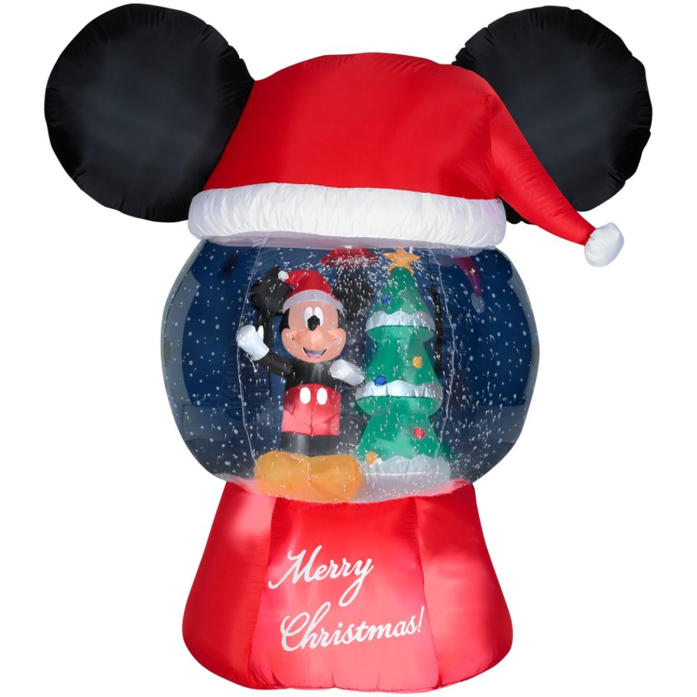disney airblown globe mickey with santa hat christmas decorations shop your way online shopping earn points on tools appliances electronics more - Mickey Mouse Christmas Lawn Decorations