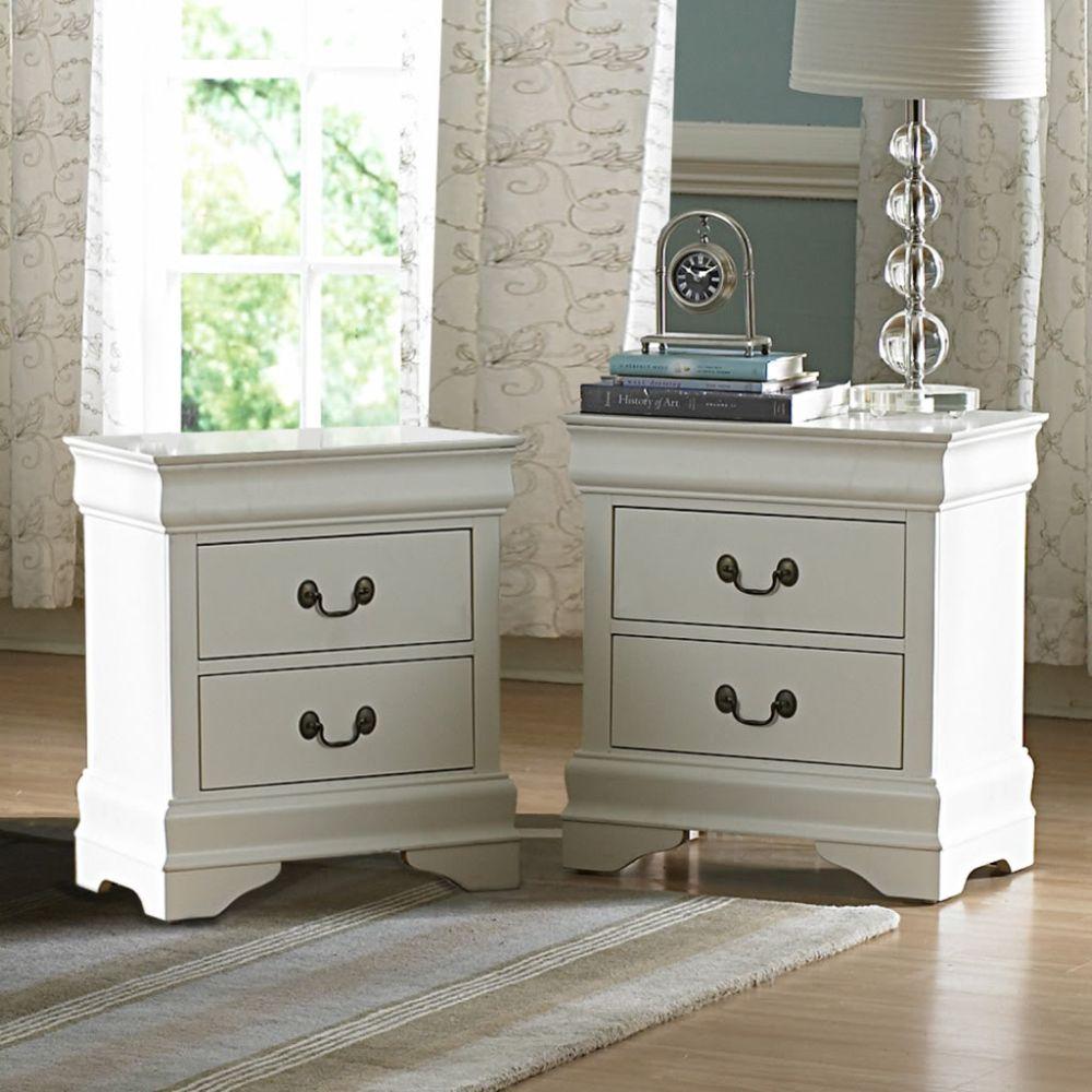 Furniture Bedroom Furniture White Finish 2 White Finish