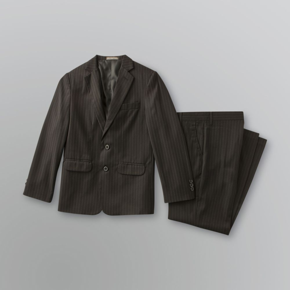 Dockers Boy's Pinstripe Suit Black