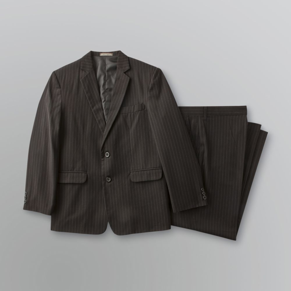 Dockers Boy's Husky Solid Herringbone Suit Black
