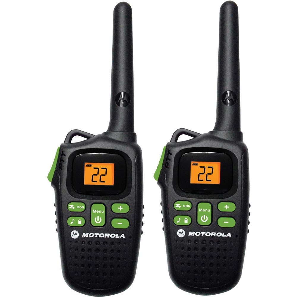 Motorola 20-Mile Talkabout Rechargeable Two-Way Radio Pair Black